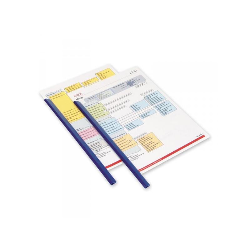 Скрепкошина для брошюровки Durable А4 синяя до 60 листов