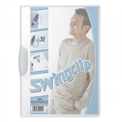 Папка для брошюровки Durable Swingclip с белым клипом А4 до 30 листов