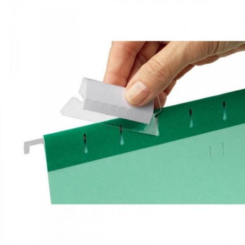 Ярлычки для подвесных папок Esselte пластиковые 50 мм 25 штук в упаковке