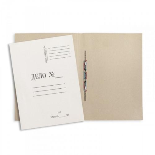 Папка-скоросшиватель Дело № картонная А4 до 150 листов белая 280 г/кв.м