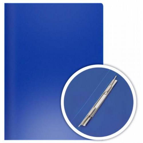 Папка-скоросшиватель пружинный боковой, А4, пластик, синяя, DOLCE COSTO