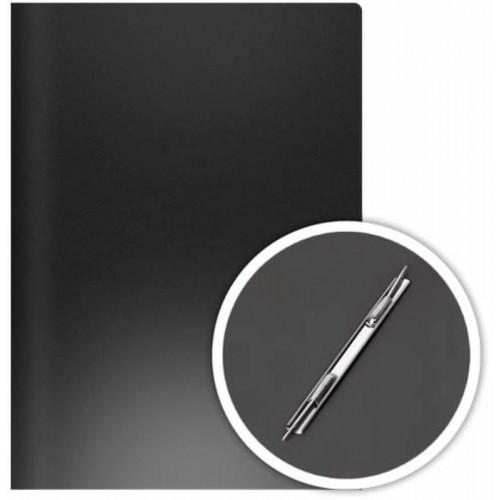 Скоросшиватель пружинный боковой, А4, пластик, черная, DOLCE COSTO