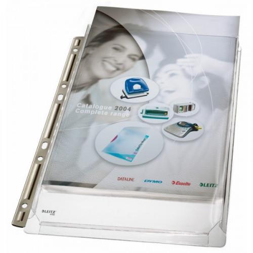 Файл-вкладыш Leitz А4 170 мкм гладкий прозрачный 3 штуки в упаковке