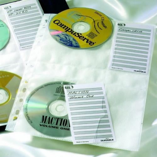 Папка-вкладыш Durable с перфорацией для 4CD 5шт/уп