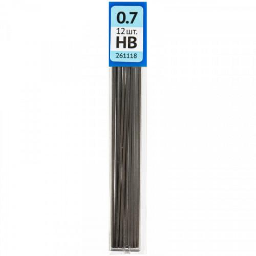 Стержени микрографические OfficeSpace, HB,0,7мм (12 штук в упаковке)
