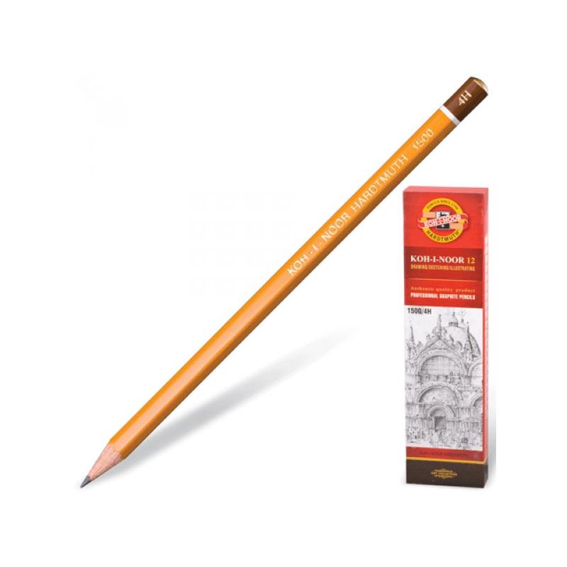 Карандаш Koh-I-Noor 1500 4H без ластика заточенный