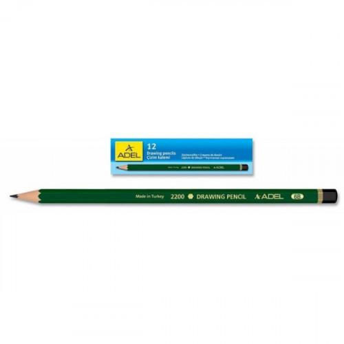Карандаш чернографитный Adel DRAWING 210 2200 055 для технических и чертежных целей 5B