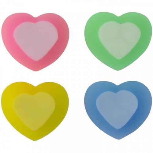 "Ластик ArtSpace ""Сердце"", фигурный, термопластичная резина, 31*25*10мм, ассорти"