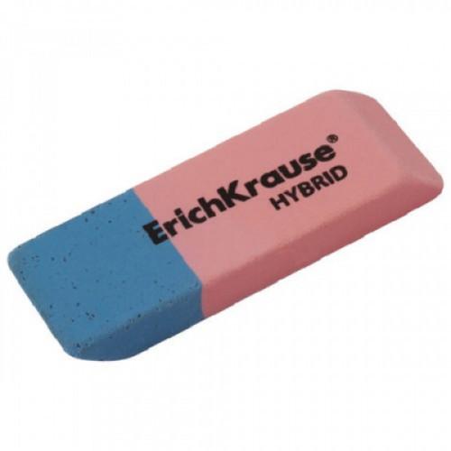 "Резинка стирательная ERICH KRAUSE ""Hybrid"", 54x18x7,5 мм, красно-синяя, дисплей, 35749"