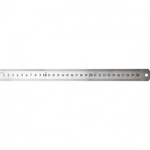 """Линейка стальная """"deVENTE"""" 30 см, толщина 0,5 мм, в пластиковом чехле"""