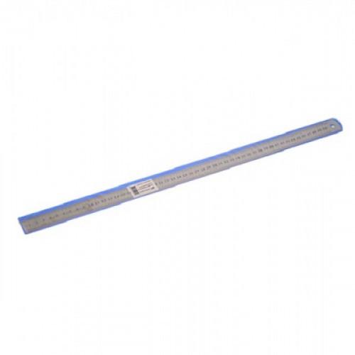 Линейка 50 см, металл, две шкалы, толщина 0,3 мм, в пластиковом чехле, WORKMATE U-Save