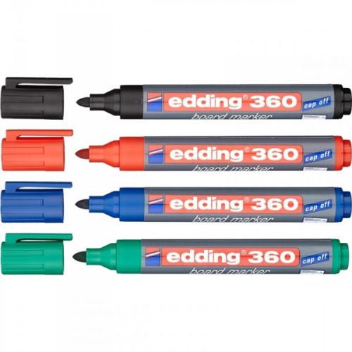 Набор маркеров для досок Edding e-360 cap off 1,5-3 мм 4 штуки