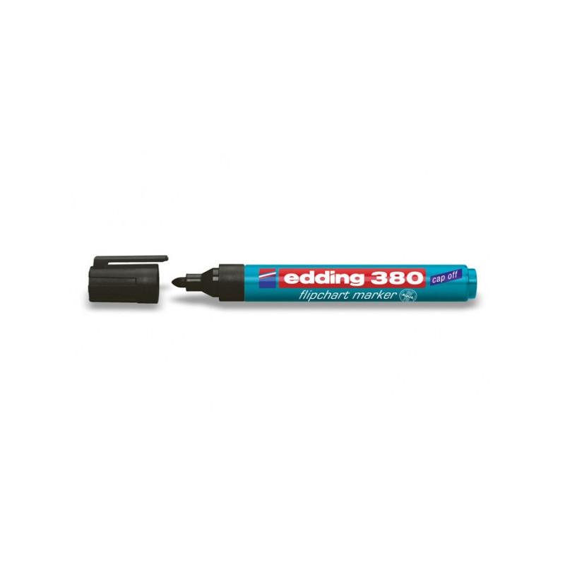 Маркер для флипчартов Edding E-380/1 cap off черный 2,2 мм