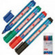 Набор маркеров для флипчартов Edding E-380 cap off 2,2 мм 4 штуки