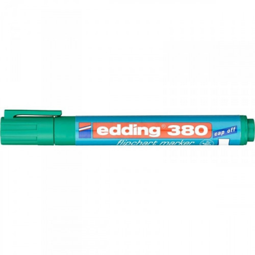 Маркер для флипчартов Edding E-380/4 cap off зеленый 2,2 мм