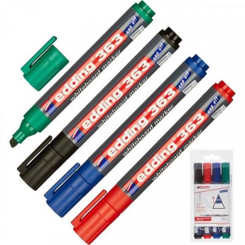 Набор маркеров для досок Edding 363 cap off 1-5 мм 4 штуки