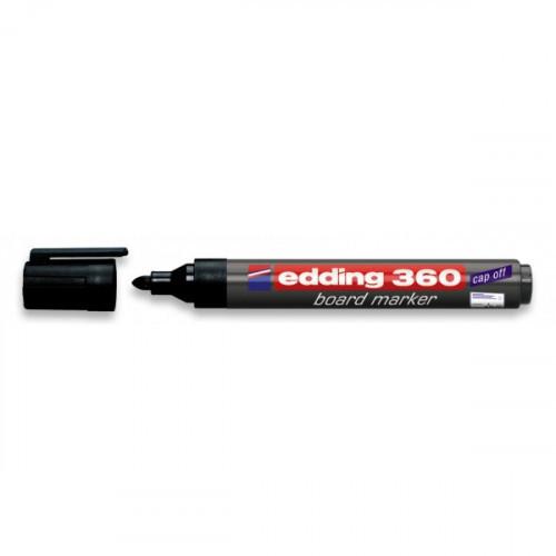Маркер для досок Edding e-360/1 cap off черный 1,5-3 мм