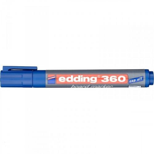 Маркер для досок Edding e-360/3 cap off синий 1,5-3 мм