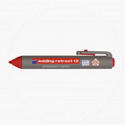 Маркер для досок Edding retract 12/2 автоматический красный 1,5-3 мм
