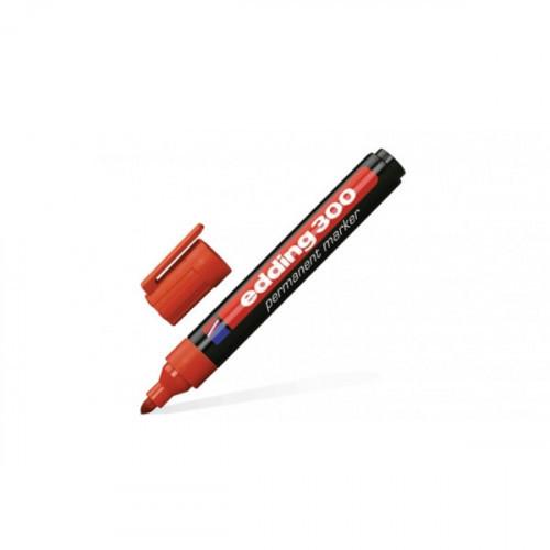 Маркер перманентный Edding E-300 красный толщина линии 1.5-3 мм