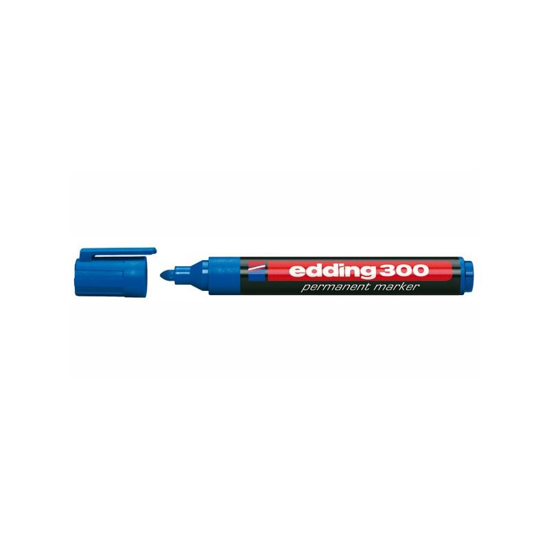 Маркер перманентный Edding E-300 синий толщина линии 1.5-3 мм