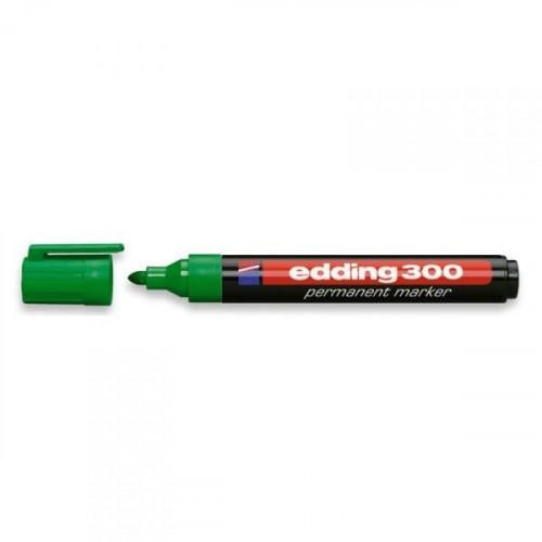 Маркер перманентный Edding E-300 зеленый толщина линии 1.5-3 мм