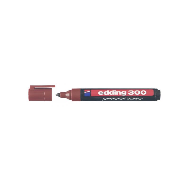 Маркер перманентный Edding E-300 коричневый толщина линии 1.5-3 мм