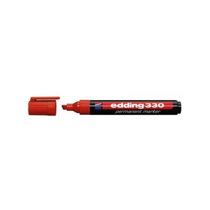 Маркер перманентный Edding E-330 красный толщина линии 1-5 мм