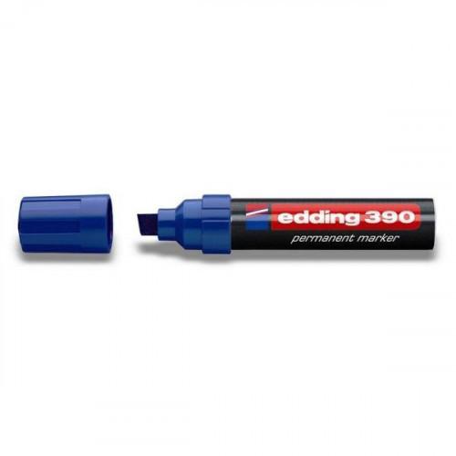 Маркер перманентный Edding E-390 синий толщина линии 4-12 мм