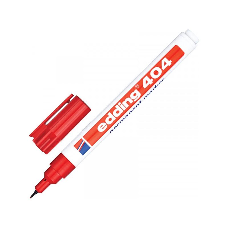 Маркер перманентный Edding E-404 красный толщина линии 0.75 мм
