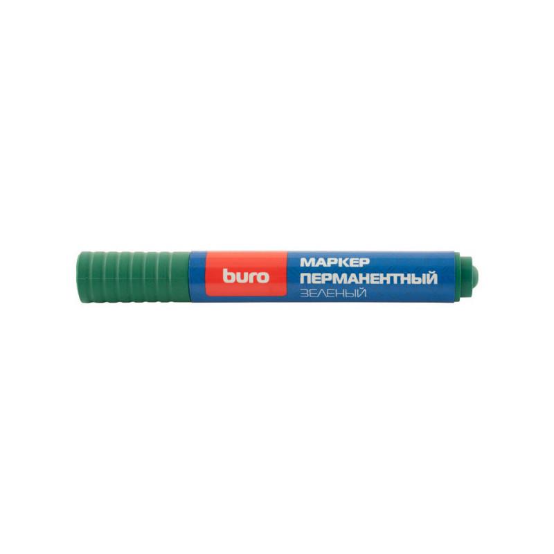Маркер перманентный Buro 048001101 круглый наконечник, зеленый (толщина линии 2мм)