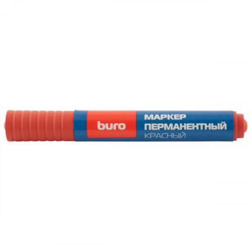 Маркер перманентный Buro 048001102 круглый наконечник, красный (толщина линии 2мм)