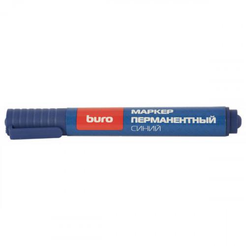 Маркер перманентный Buro 048001105 круглый наконечник, синий (толщина линии 2мм)