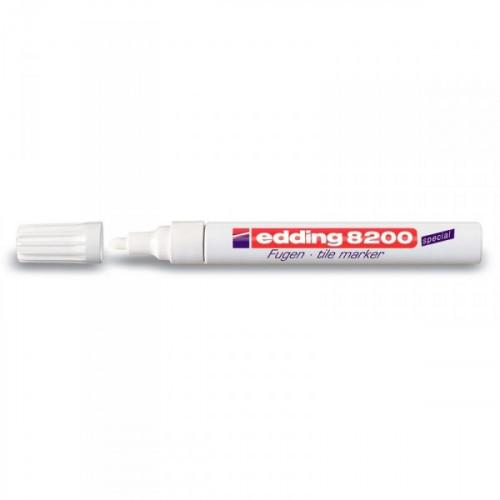 Маркер для кафеля Edding E-8200 белый с толщиной линии 2-4 мм