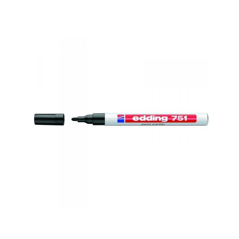 Маркер пеинт лаковый Edding E-751/1 черный толщина линии 1-2 мм
