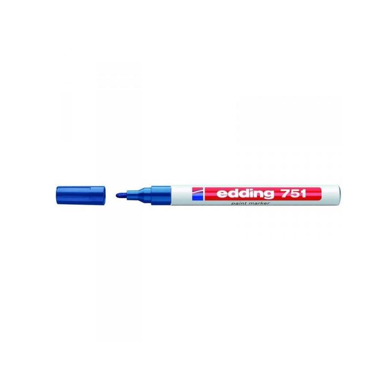 Маркер пеинт лаковый Edding E-751/3 синий толщина линии 1-2 мм