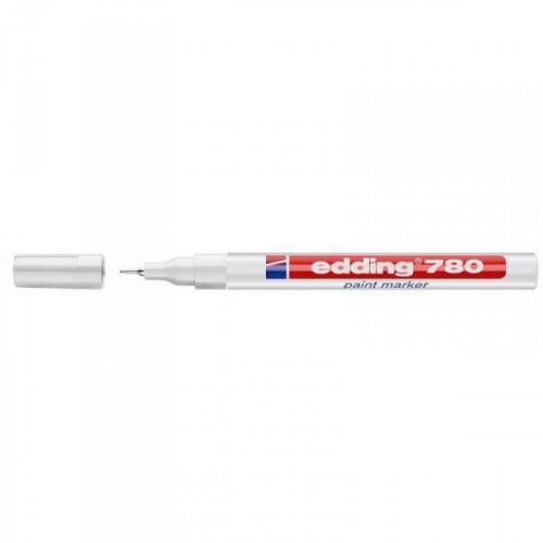 Маркер пеинт лаковый Edding E-780/49 белый с толщиной линии 0,8 мм