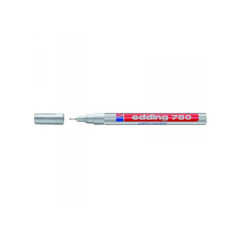 Маркер пеинт лаковый Edding E-780/54 серебристый толщина линии 0.8 мм