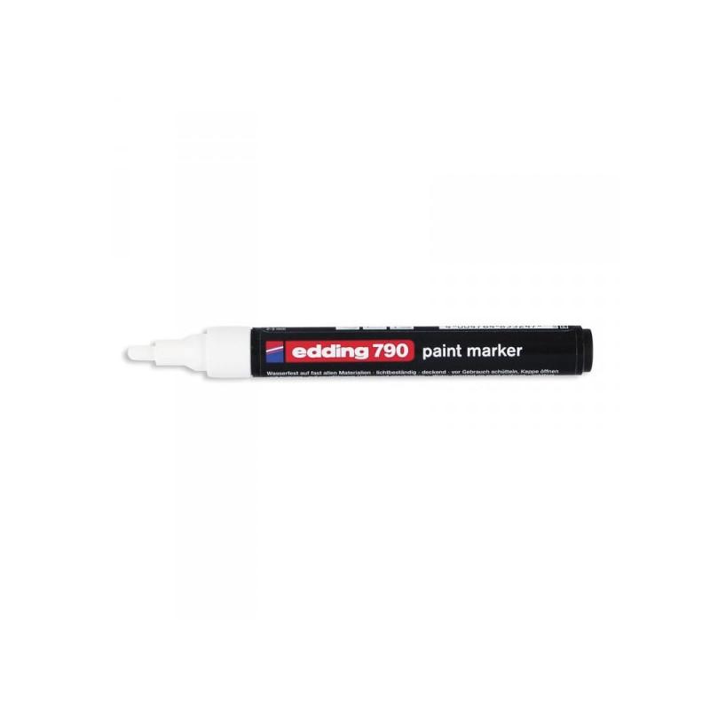 Маркер пеинт лаковый Edding E-790/49 белый толщина линии 2-4 мм