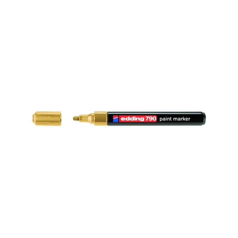 Маркер пеинт лаковый Edding E-790/53 золотистый толщина линии 2-4 мм