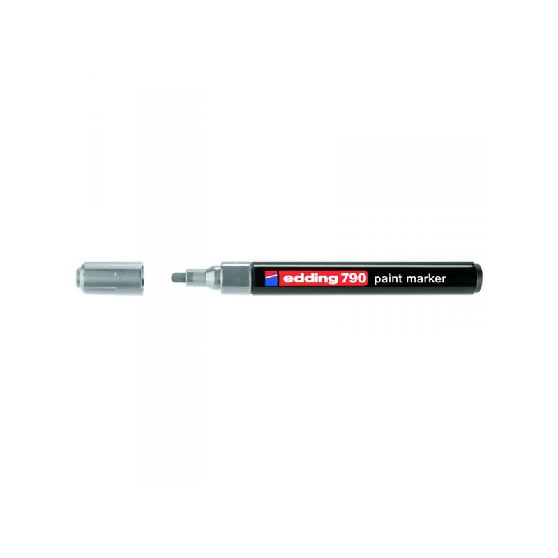 Маркер пеинт лаковый Edding E-790/54 серебристый толщина линии 2-4 мм