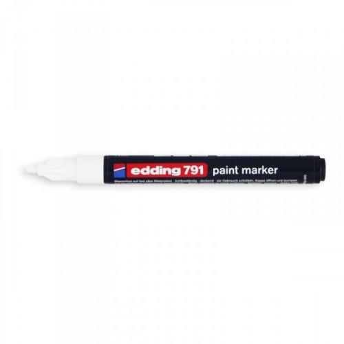 Маркер пеинт лаковый Edding E-791/49 белый толщина линии 1-2 мм