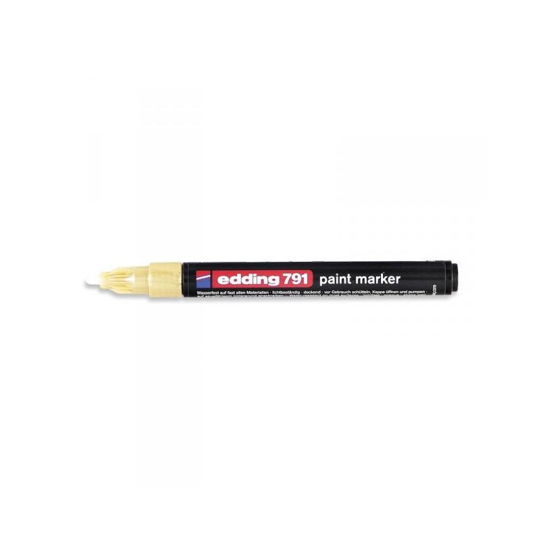 Маркер пеинт лаковый Edding E-791/53 золотистый толщина линии 1-2 мм