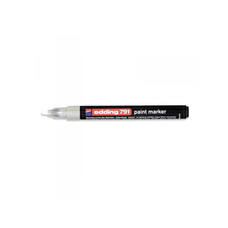 Маркер пеинт лаковый Edding E-791/54 серебристый толщина линии 1-2 мм