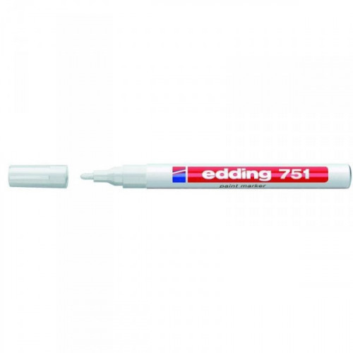 Маркер пеинт лаковый Edding E-751/49 белый толщина линии 1-2 мм