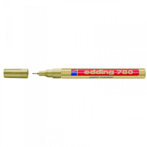 Маркер пеинт лаковый Edding E-780/53 золотистый толщина линии 0.8 мм