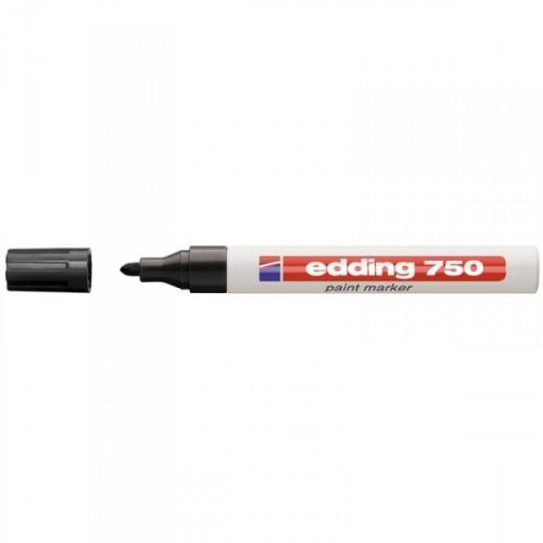 Маркер пеинт лаковый Edding E-750/1 черный толщина линии 2-4 мм