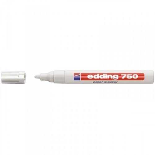 Маркер пеинт лаковый Edding E-750/49 белый толщина линии 2-4 мм