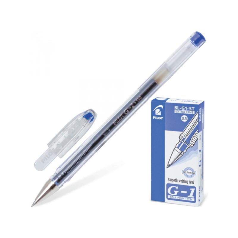 Ручка гелевая Pilot BL-G1-5T синяя с толщиной линии 0,3 мм