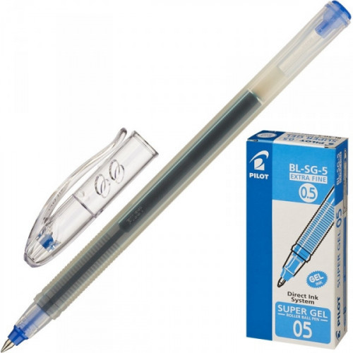 Ручка гелевая Pilot BL-SG5 синяя с толщиной линии 0,3 мм